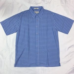 Blue Plaid Eighty Eight Medium Short Sleeve Shirt
